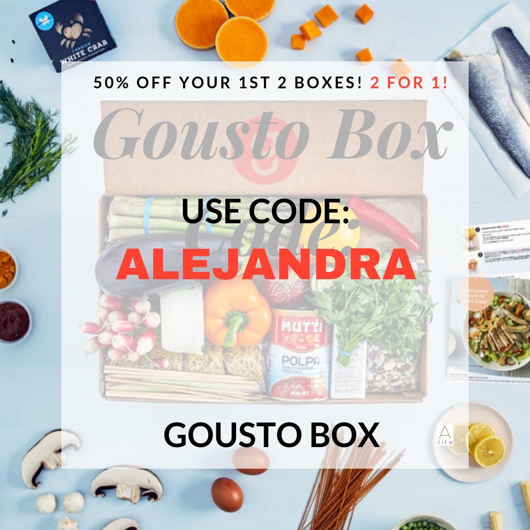 Get 2 for 1 Gousto Box!