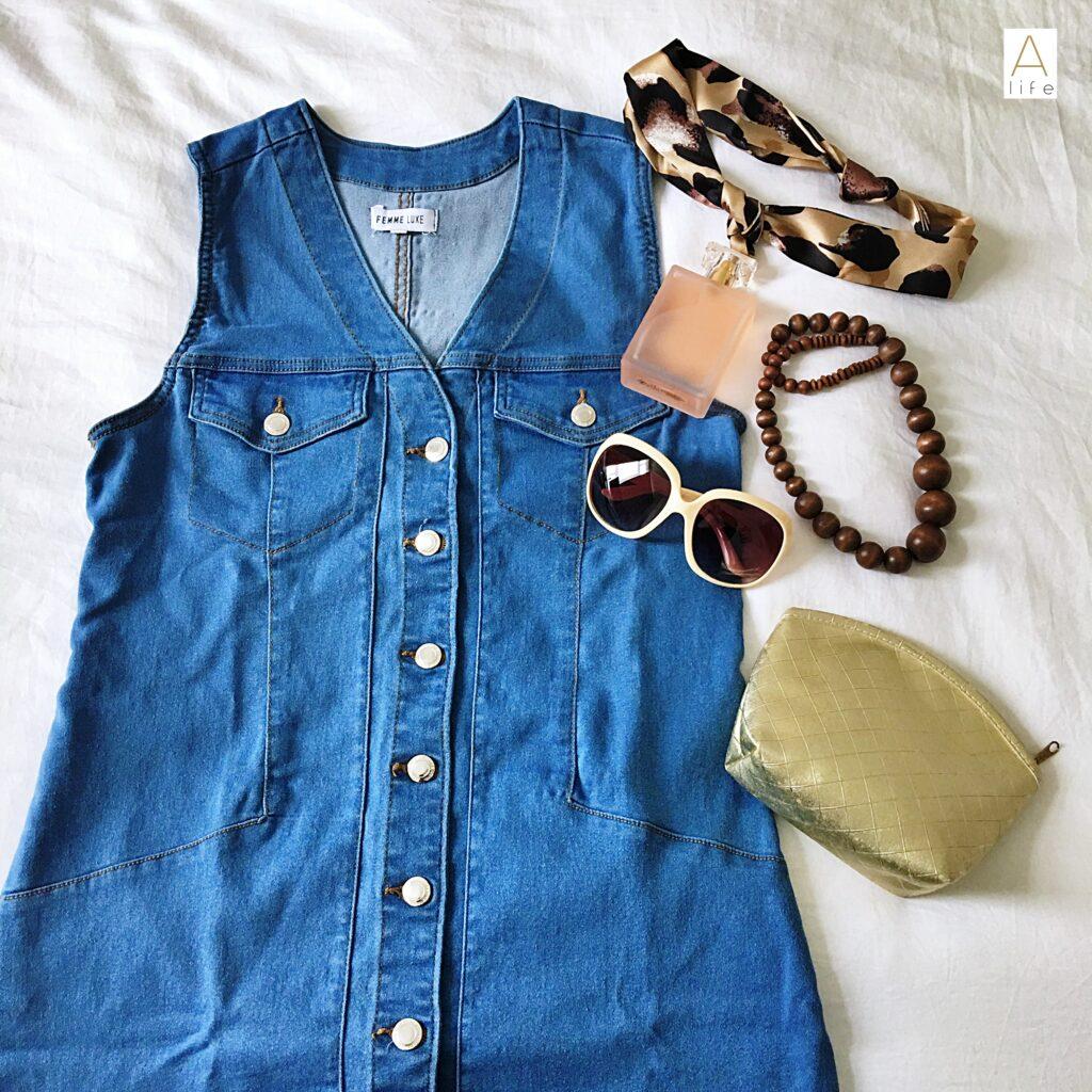 jean dress pinafore dress