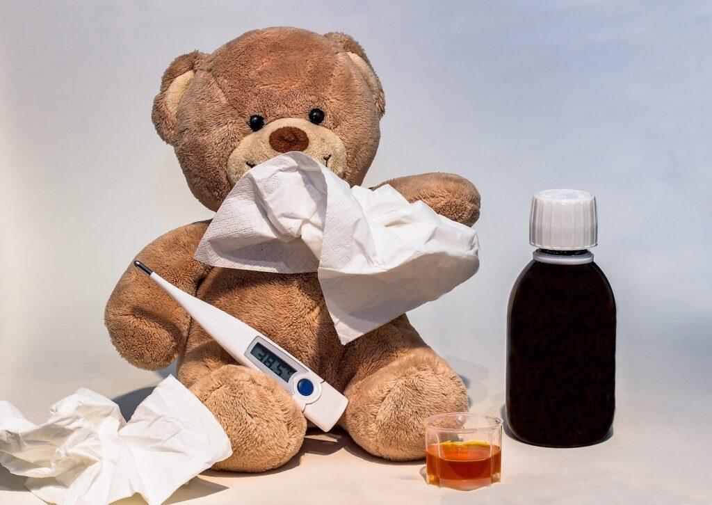 teddy bear cold flu medicine