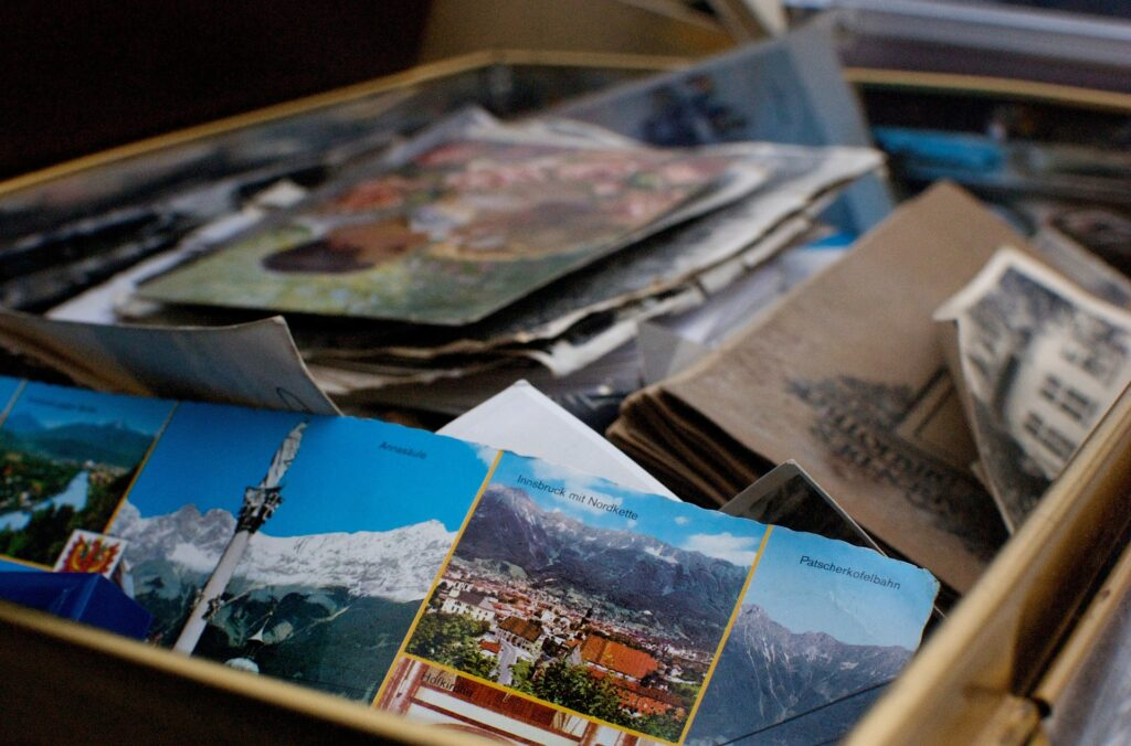 A box with photographs