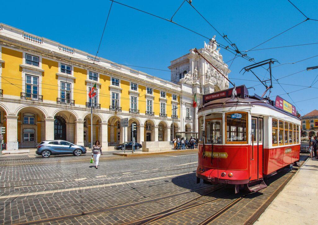 portuguese tram lisbon portugal