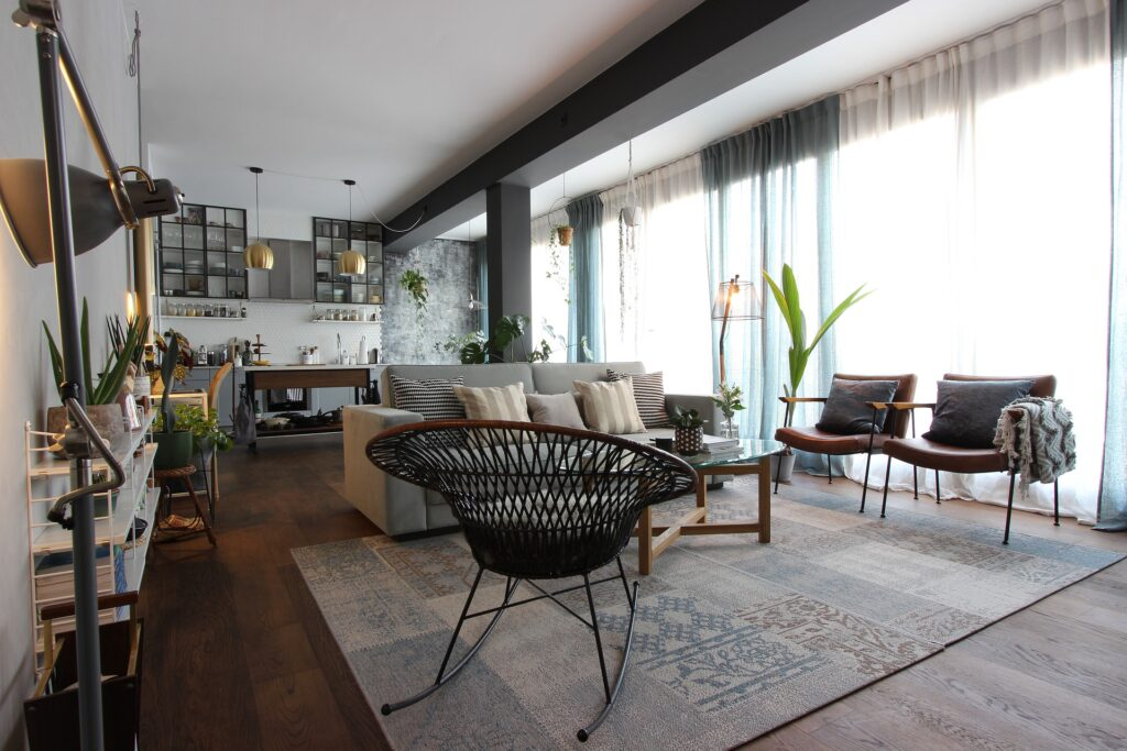 open living room layout