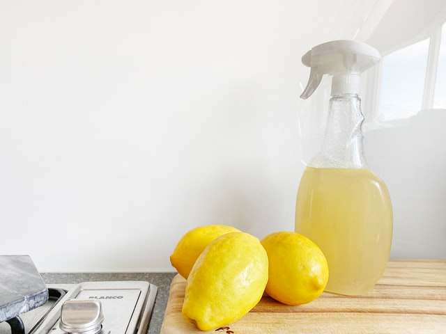 lemons used to make cleaning supplies