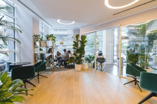 Office space design trends encourage embracing biophilia.