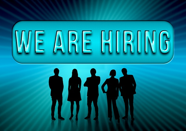 """""""We are hiring"""" add, representing a practical guide to finding international jobs"""