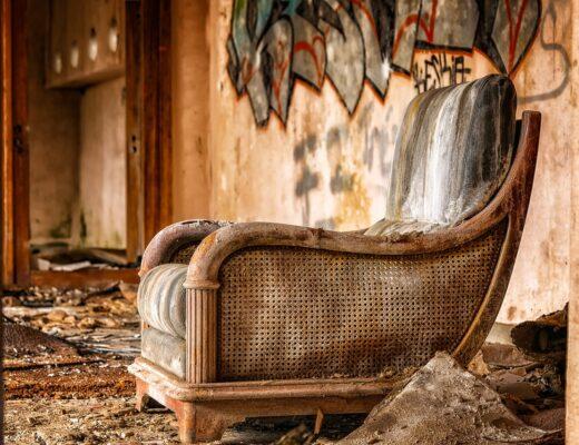 An old armchair