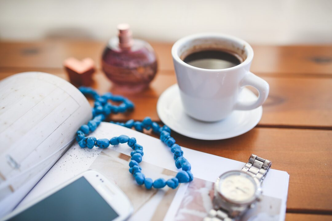 coffee white cup reading watch mandala