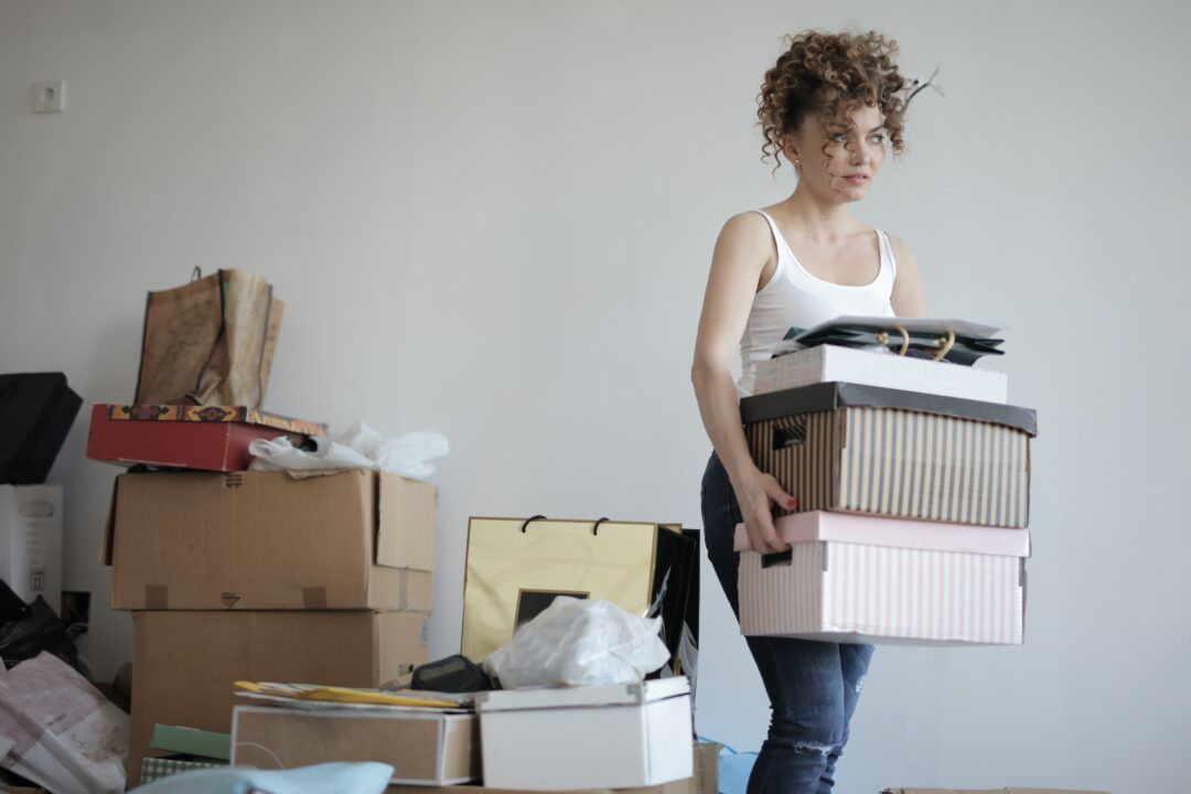 downsizing your home with family can be a tiring task