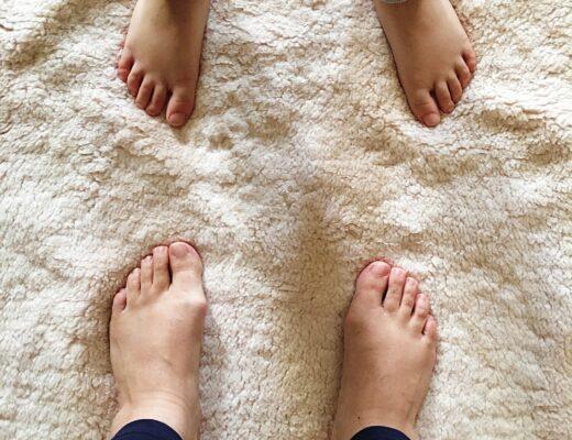 mother and son feet training kalari martial arts
